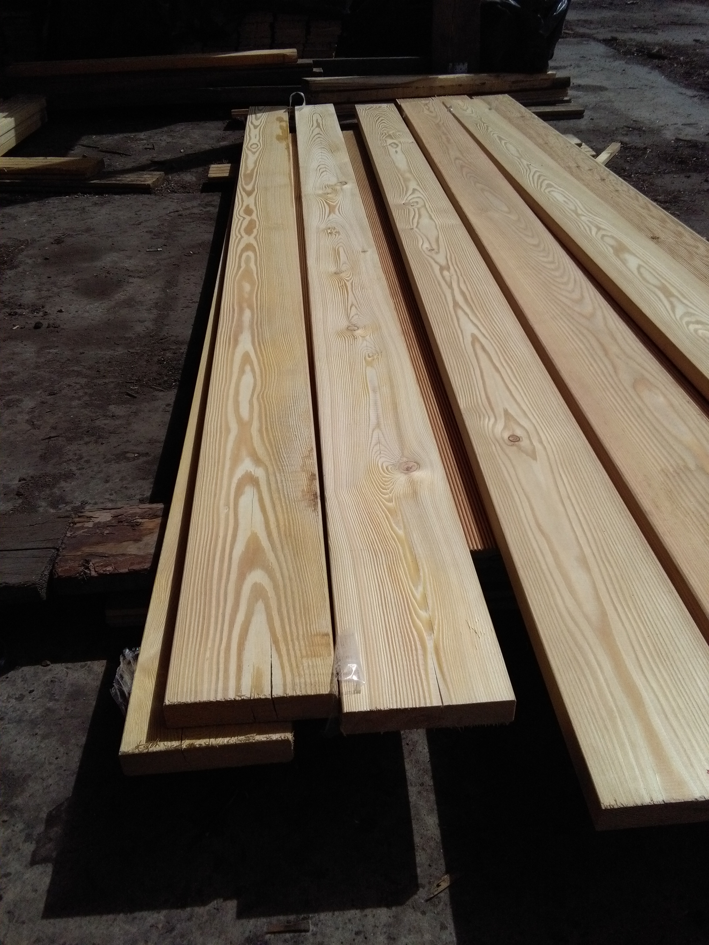 Llc bozhena production of siberian larch decking for Timber decking thickness