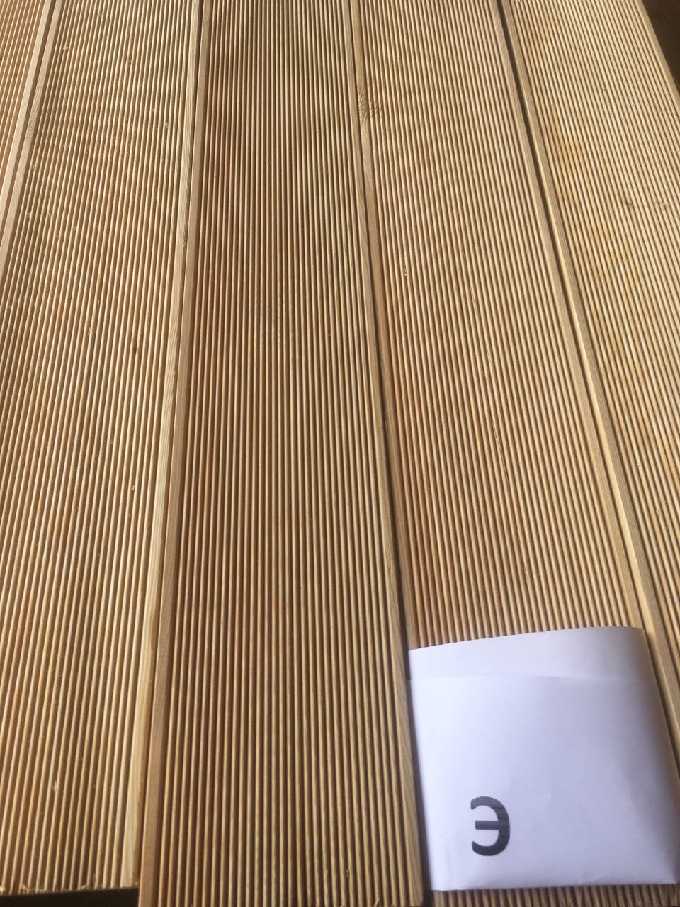Llc bozhena production of siberian larch decking for Smooth hardwood decking boards